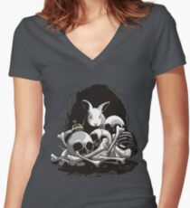 BEAST OF CAERBANNOG Women's Fitted V-Neck T-Shirt
