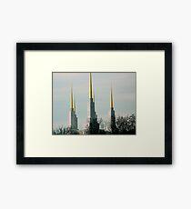 Triple Spires  ^ Framed Print