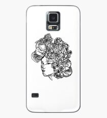 Flowery face Case/Skin for Samsung Galaxy