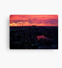 Rotterdam at Sunset, from Euromast Canvas Print