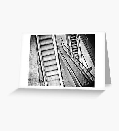 Escalators Greeting Card