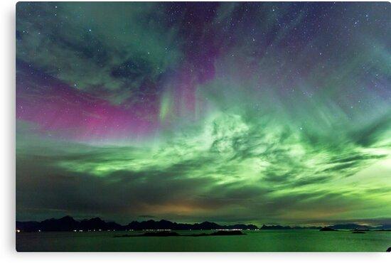 Green & Purple sky by Frank Olsen