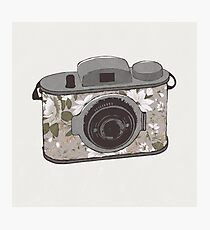 Floral Camera 1 Photographic Print