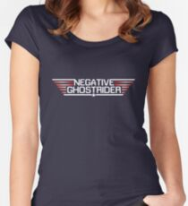 Negative Ghostrider the Pattern is Full Women's Fitted Scoop T-Shirt