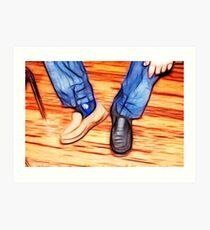 Odd shoe Lee Art Print