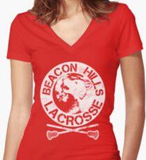 Beacon Hills Lacrosse Women's Fitted V-Neck T-Shirt
