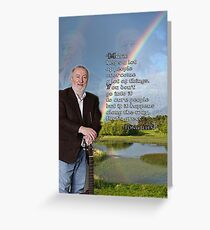 Music Helps A Lot of People - Tony Allen Greeting Card