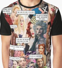 Jinkx Monsoon & Max Malanaphy Collage Graphic T-Shirt