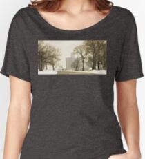 Winter View Of Detroit From Belle Isle Women's Relaxed Fit T-Shirt