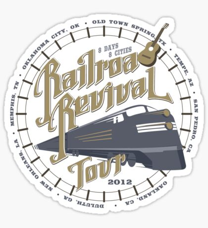 Railroad Revival contest entry Sticker