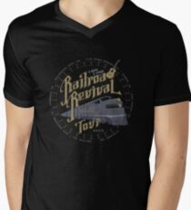 Railroad Revival contest entry - distressed Mens V-Neck T-Shirt