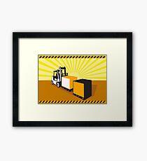 Forklift Truck Materials Handling Retro Framed Print