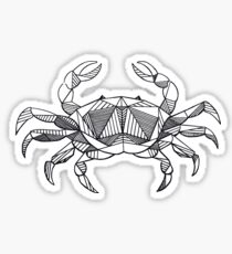 Geometric Cancer Crab Sticker