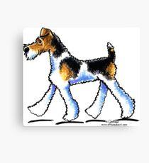 Wire Fox Terrier Trot Canvas Print