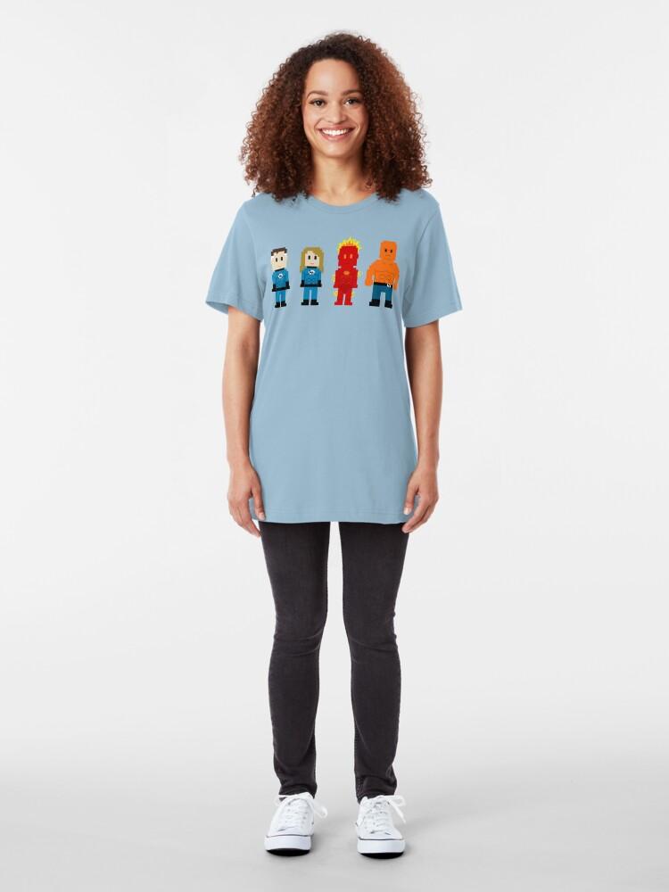 Alternate view of Super Heroes 5 - The Fantastics Slim Fit T-Shirt