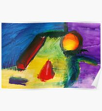 Abstract - Acrylic - Primitives Poster