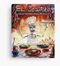 El Cocinero Canvas Print
