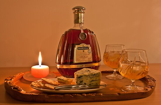 Cognac and Blue Cheese by caru