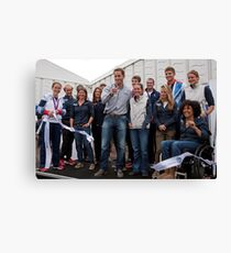 Olympic & Paralympic medal winners open the PSP Southampton boat show 2012 Canvas Print