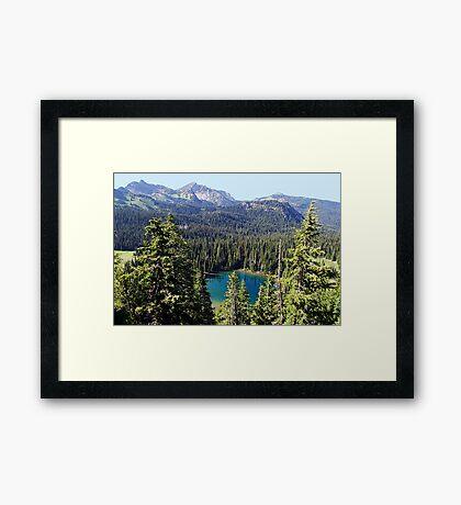 Sunrise Lake Framed Print