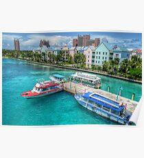 Atlantis Towers and Harbor Village in Paradise Island, Nassau, The Bahamas Poster
