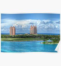 Atlantis Towers in Paradise Island, The Bahamas Poster