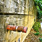 Pipe out of wall by Russell Voigt