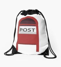 Red Post box Drawstring Bag