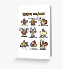 Viking Sayings Greeting Card