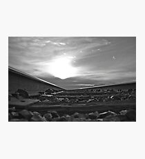 B&W into the sunset Photographic Print