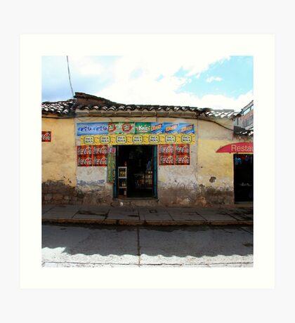 General Store, Cuzco Peru Art Print