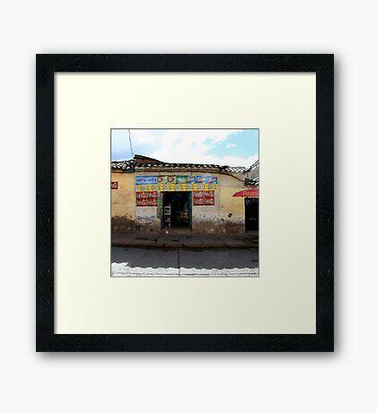 General Store, Cuzco Peru Framed Print