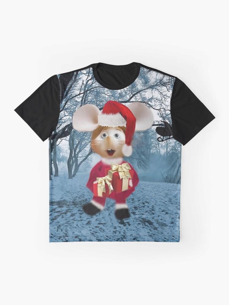 Alternative Ansicht von Topo Gigio WEIHNACHTEN ÜBERRASCHUNG UND KARTEN, DRUCKE ECT Grafik T-Shirt