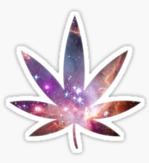 Cosmic Leaf Sticker