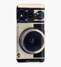 Retro - Vintage Pastel Camera on Beige Pattern Map Background Case/Skin for Samsung Galaxy