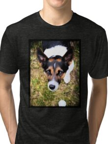 Jessie the Jack Russell Terrier: It's All About the Ball Tri-blend T-Shirt