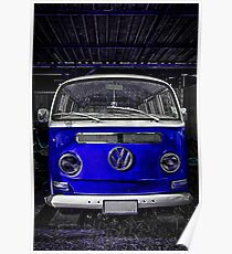 Volkswagen combi Blue  Poster