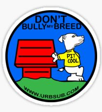 PIT COOL PIT BULL LOGO BY URB SUB 2 Sticker