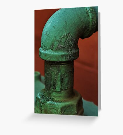 Veins In The Pipe Greeting Card