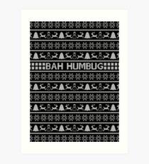 Bah Humbug Christmas Jumper Art Print