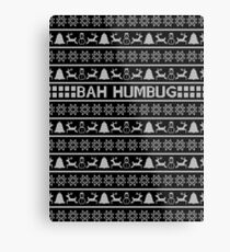 Bah Humbug Christmas Jumper Metal Print