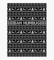 Bah Humbug Christmas Jumper Photographic Print