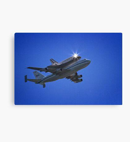 Endeavor Fly Over - Long Beach, California Canvas Print