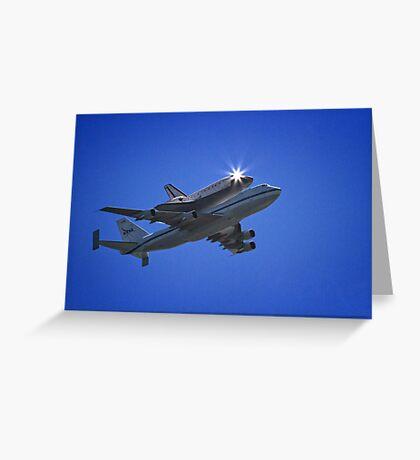 Endeavor Fly Over - Long Beach, California Greeting Card