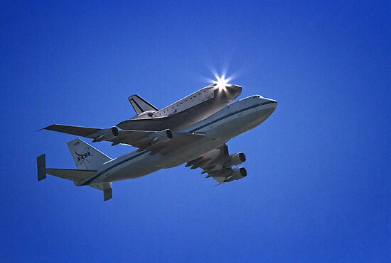 Endeavor Fly Over - Long Beach, California by Michael  Moss