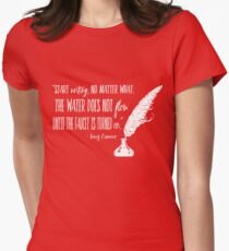 Louis L'Amour Quote 2 Womens Fitted T-Shirt