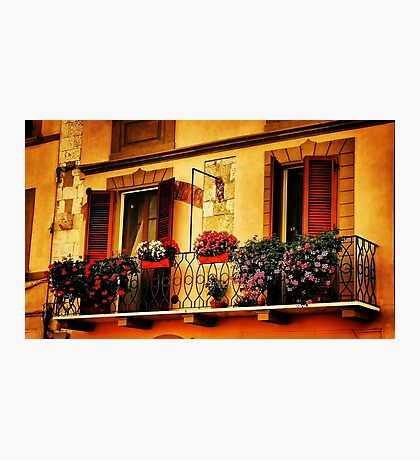 A Balcony In Pisa Photographic Print