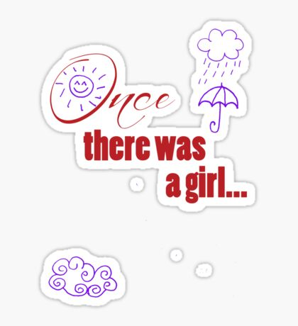Once There Was A Girl - Embellished with Weather  Sticker