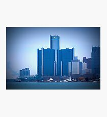 Renaissance Center In Downtown Detroit, Michigan Photographic Print