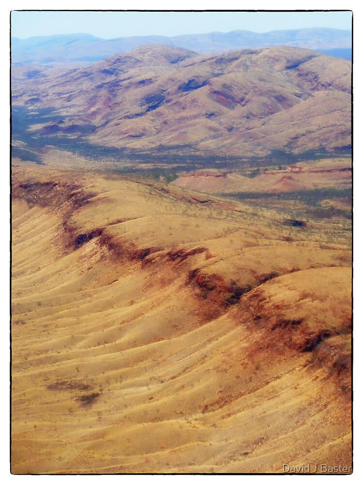 Ranges around Tom Price Western Australia from the air by David J Baster